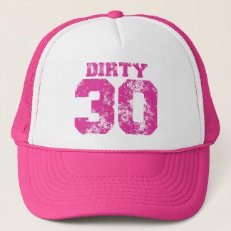 DIRTY 30 Hot Neon Pink Birthday Hat