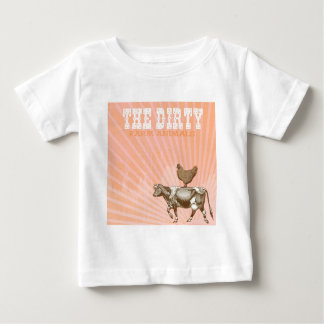 Dirty Animals, Brown Chicken Brown Cow Baby T-Shirt