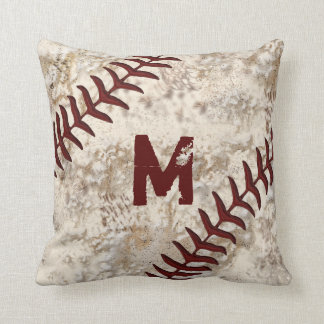 Dirty Baseball Pillow Your MONOGRAM, JERSEY NUMBER