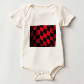 Dirty Chequered Flag Baby Bodysuit