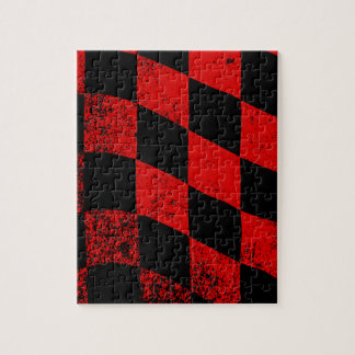 Dirty Chequered Flag Jigsaw Puzzle
