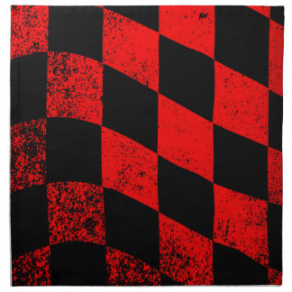 Dirty Chequered Flag Napkin
