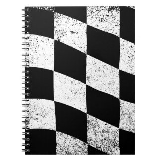 Dirty Chequered Flag Notebooks