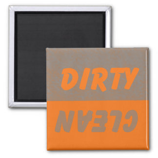Dirty Clean Dish Washer Square Magnet