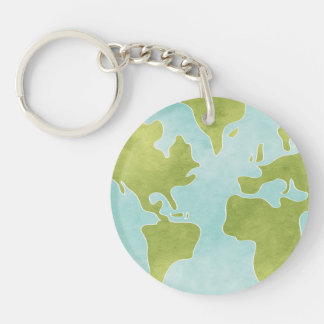 Dirty Clean Earth Keychain 2 sided