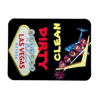 Dirty Clean Las Vegas Rectangular Magnets