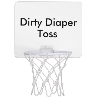 Dirty Diaper Toss Baby Shower Game Mini Basketball Hoop