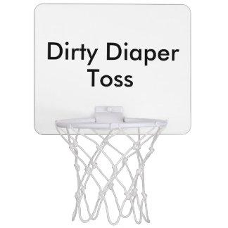 Dirty Diaper Toss Baby Shower Game Mini Basketball Hoops