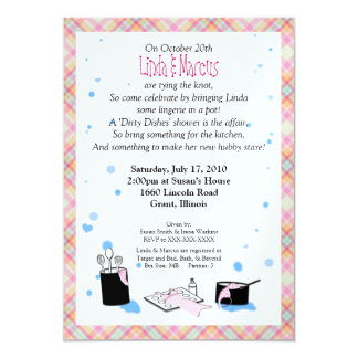'Dirty Dishes' Bridal Shower Invitation