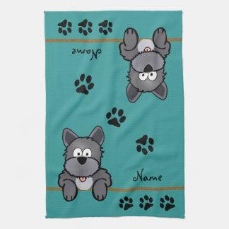 Dirty Dog Tea Towel