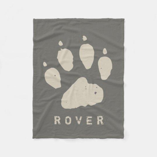 Dirty Doggie Paw Dark Biege Custom Fleece Blanket
