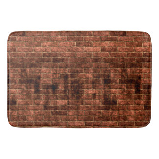 Dirty Grungy Old Red Brick Wall Bath Mat