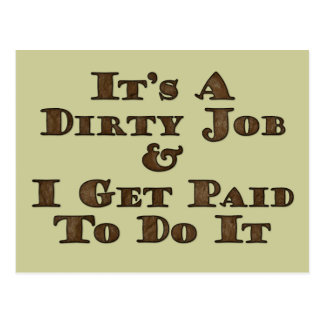 Dirty Job Postcard