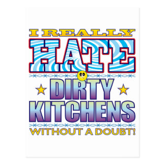 Dirty Kitchens Hate Face Postcard