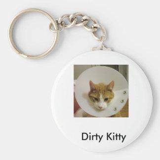 Dirty Kitty Basic Round Button Key Ring