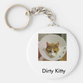 Dirty Kitty Key Ring