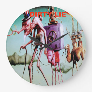 Dirty lie/dystopia large clock
