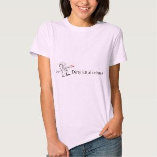 Dirty Littul Crimes Tag light ladies t-shirt