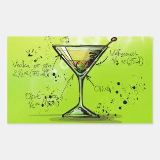 Dirty Martini - Cocktail Gift Rectangular Sticker