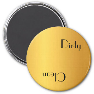 Dirty or clean dishwasher 7.5 cm round magnet