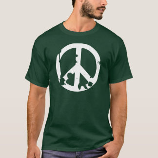 Dirty Peace Symbol white T-Shirt