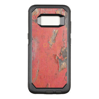 Dirty Peeling Red Paint on Barn Wood OtterBox Commuter Samsung Galaxy S8 Case