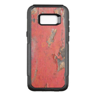 Dirty Peeling Red Paint on Barn Wood OtterBox Commuter Samsung Galaxy S8+ Case