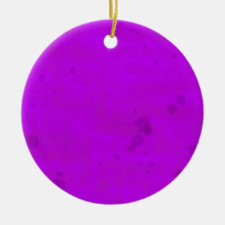 Dirty Purple Water Stains Round Ceramic Decoration