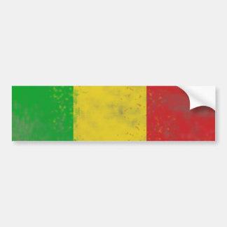 Dirty Rasta Colored Bars Bumper Stickers