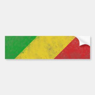 Dirty Rasta Colored Bars Bumper Sticker