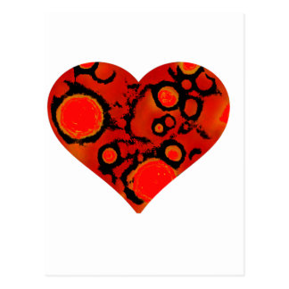 dirty red heart postcard