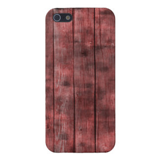 Dirty Red Wooden Fence iPhone 5 Cover