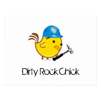 Dirty Rock Chick Postcard