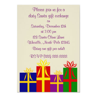 Dirty Santa Christmas Invitation