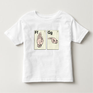 Dirty Sign Language Flash Cards Toddler T-Shirt