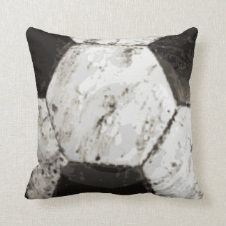 Dirty Soccer Ball Texture Cushion