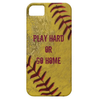 Dirty Softball iPhone Cases with YOUR TEXT