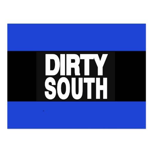 Dirty South 2 Blue Postcard