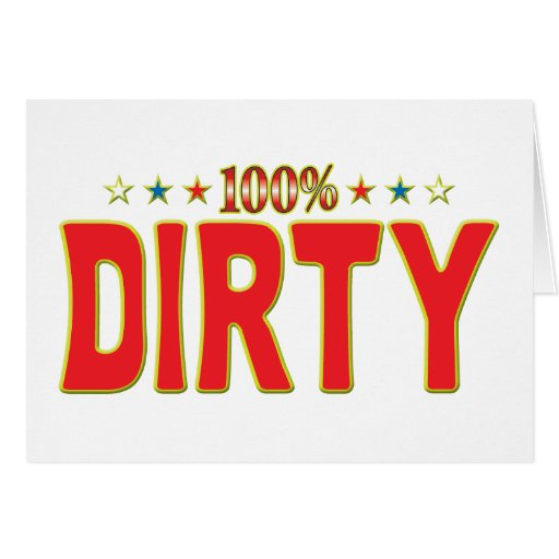 Dirty Star Tag Greeting Card