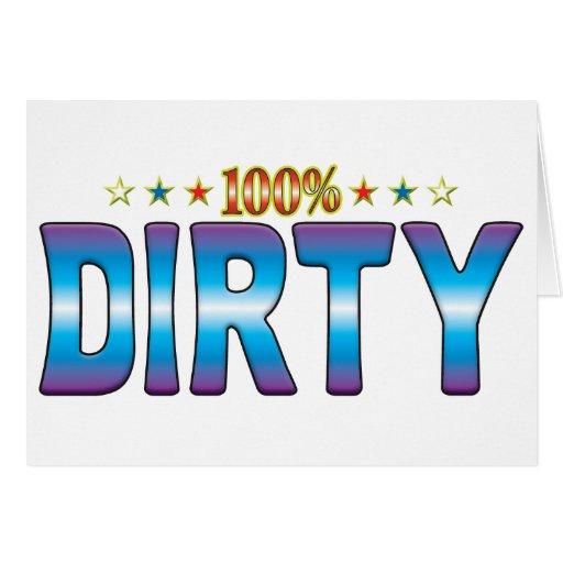 Dirty Star Tag v2 Greeting Cards