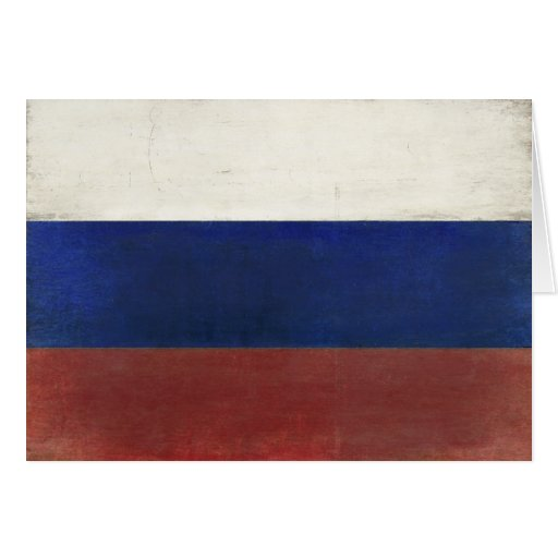 Dirty Vintage Flag from Russia Greeting Cards