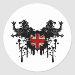 Dirty Vintage UK Lions Classic Round Sticker
