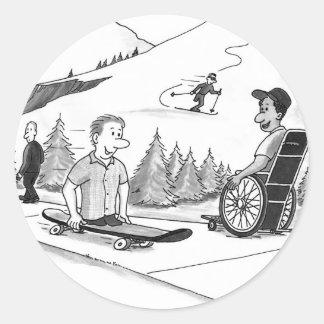 Disability Ability Round Sticker