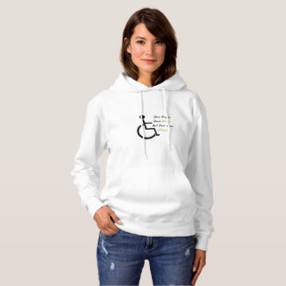 Disability Awareness Gift Wheelchair Love Support Hoodie