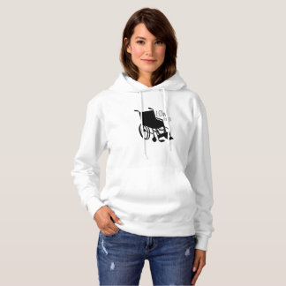 Disability Awareness Wheelchair Funny Low Rider Hoodie