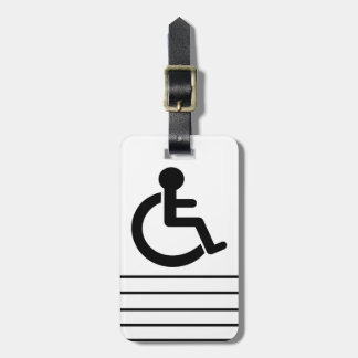 Disability Disabled  Symbol Luggage Tag