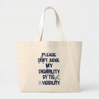 Disability/INvisibility Jumbo Tote Bag
