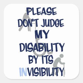 Disability/INvisibility Square Sticker