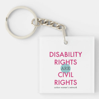 Disability Rights AWN Keychain