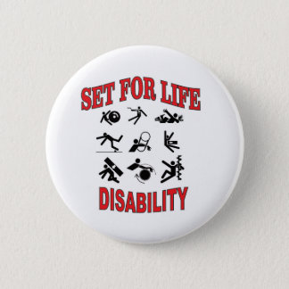 disability set for life 6 cm round badge